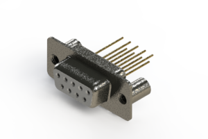 628-M09-623-WT3 - Vertical Machined D-Sub Connector