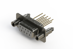 628-M09-623-WT6 - Vertical Machined D-Sub Connector