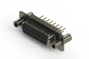 628-M15-221-BT4 - Vertical Machined D-Sub Connector