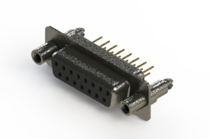628-M15-221-BT6 - Vertical Machined D-Sub Connector