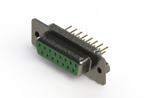 628-M15-221-GN2 - Vertical Machined D-Sub Connector