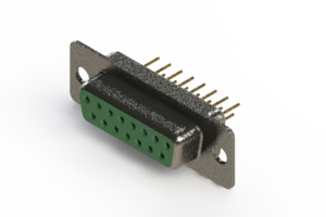 628-M15-221-GT1 - Vertical Machined D-Sub Connector
