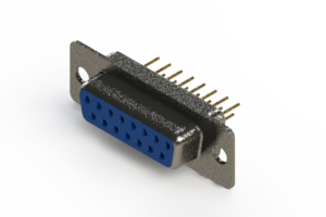 628-M15-221-LT1 - Vertical Machined D-Sub Connector