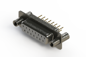 628-M15-221-WN4 - Vertical Machined D-Sub Connector