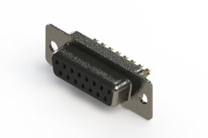 628-M15-222-BN1 - Vertical Machined D-Sub Connector