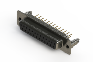 628-M25-621-BN5 - Vertical Machined D-Sub Connector