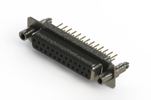 628-M25-621-BN6 - Vertical Machined D-Sub Connector