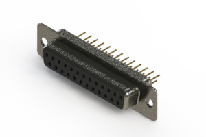 628-M25-621-BT1 - Vertical Machined D-Sub Connector