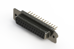 628-M25-621-BT2 - Vertical Machined D-Sub Connector