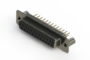 628-M25-621-BT3 - Vertical Machined D-Sub Connector