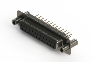 628-M25-621-BT4 - Vertical Machined D-Sub Connector
