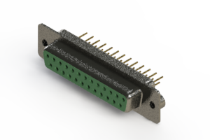 628-M25-621-GN2 - Vertical Machined D-Sub Connector