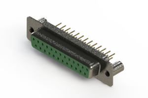 628-M25-621-GN3 - Vertical Machined D-Sub Connector