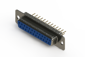 628-M25-621-LN1 - Vertical Machined D-Sub Connector