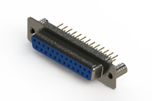628-M25-621-LN3 - Vertical Machined D-Sub Connector