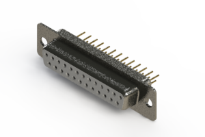 628-M25-621-WN1 - Vertical Machined D-Sub Connector