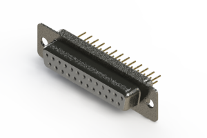 628-M25-621-WT1 - Vertical Machined D-Sub Connector