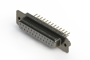 628-M25-621-WT2 - Vertical Machined D-Sub Connector