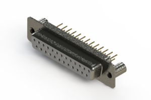 628-M25-621-WT3 - Vertical Machined D-Sub Connector