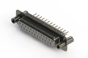 628-M25-621-WT4 - Vertical Machined D-Sub Connector