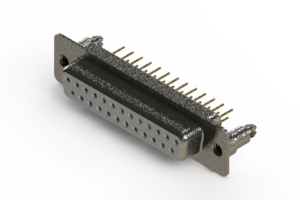 628-M25-621-WT5 - Vertical Machined D-Sub Connector