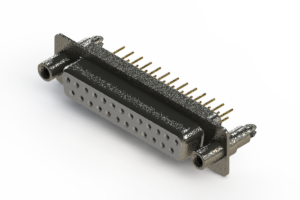 628-M25-621-WT6 - Vertical Machined D-Sub Connector