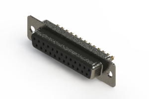 628-M25-622-BN1 - Vertical Machined D-Sub Connector