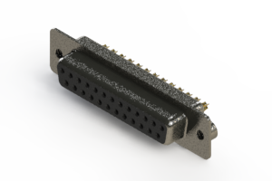 628-M25-622-BN2 - Vertical Machined D-Sub Connector
