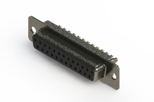 628-M25-622-BT1 - Vertical Machined D-Sub Connector