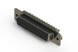 628-M25-622-BT2 - Vertical Machined D-Sub Connector
