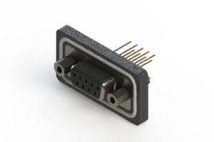 628-W09-221-013 - Vertical Waterproof D-Sub Connector
