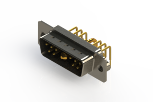 629-11W1240-1N2 - Right-angle Power Combo D-Sub Connector
