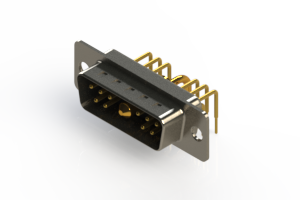 629-11W1240-1T1 - Right-angle Power Combo D-Sub Connector