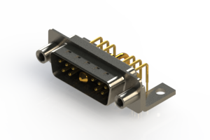 629-11W1240-1T6 - Right-angle Power Combo D-Sub Connector