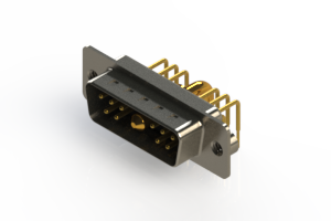 629-11W1240-2N2 - Right-angle Power Combo D-Sub Connector