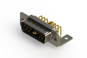 629-11W1240-2N4 - Right-angle Power Combo D-Sub Connector