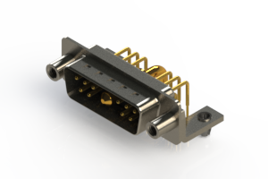 629-11W1240-2N5 - Right-angle Power Combo D-Sub Connector