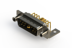 629-11W1240-2N6 - Right-angle Power Combo D-Sub Connector