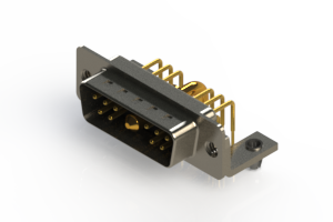 629-11W1240-2NB - Right-angle Power Combo D-Sub Connector