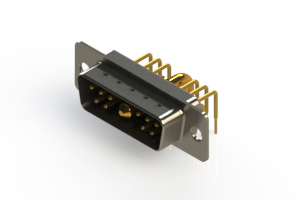 629-11W1240-2T1 - Right-angle Power Combo D-Sub Connector