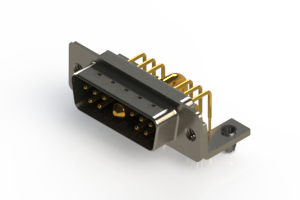 629-11W1240-2T3 - Right-angle Power Combo D-Sub Connector