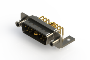 629-11W1240-2T6 - Right-angle Power Combo D-Sub Connector