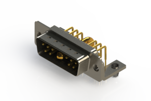 629-11W1240-2TB - Right-angle Power Combo D-Sub Connector