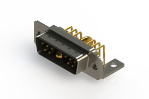 629-11W1240-2TC - Right-angle Power Combo D-Sub Connector