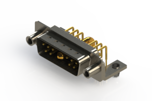 629-11W1240-2TD - Right-angle Power Combo D-Sub Connector