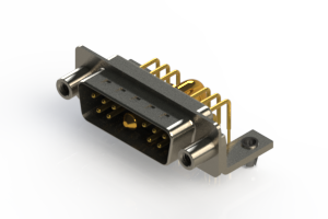 629-11W1240-3N5 - Right-angle Power Combo D-Sub Connector