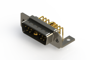 629-11W1240-3NC - Right-angle Power Combo D-Sub Connector