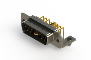 629-11W1240-3TB - Right-angle Power Combo D-Sub Connector