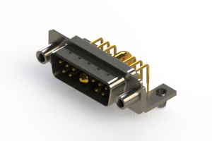 629-11W1240-3TD - Right-angle Power Combo D-Sub Connector