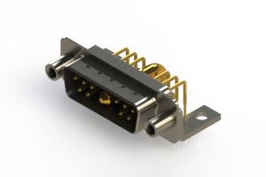 629-11W1240-4N6 - Right-angle Power Combo D-Sub Connector